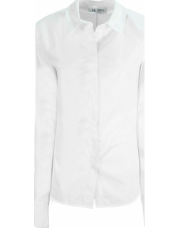 White shirt with padded shoulders