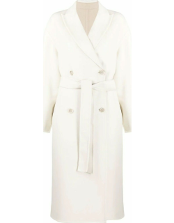 Double-breasted reversible cashmere coat