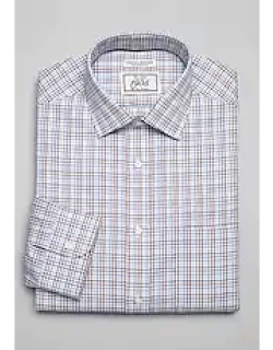 1905 Collection Tailored Fit Spread Collar Check Dress Shirt, by JoS. A. Bank