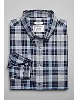 1905 Collection Tailored Fit Brushed Cotton Button-Down Collar Check Men's Sportshirt CLEARANCE