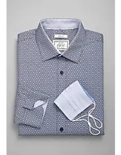 1905 Collection Slim Fit Spread Collar Geometric Floral Dress Shirt & Mask CLEARANCE, by JoS. A. Bank