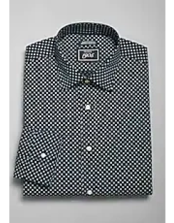 1905 Navy Collection Slim Fit Spread Collar Geometric Floral Dress Shirt, by JoS. A. Bank