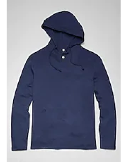 1905 Collection Tailored Fit Long Sleeve Hooded French Terry Henley