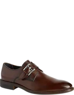 Joseph Abboud Will II Brushed Finish Monk Strap Shoes Men's Shoes - ,