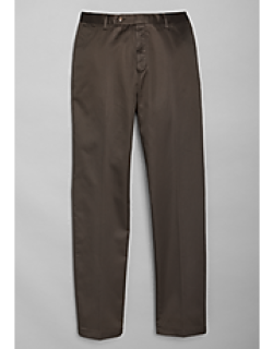 Traveler Collection Tailored Fit Flat Front Casual Pants - Big & Tall by JoS. A. Bank
