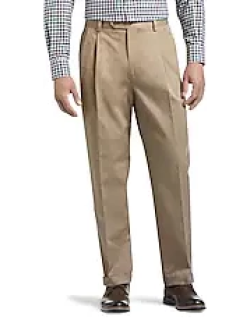 Traveler Collection Original Fit Twill Pleated Front Casual Pant CLEARANCE by JoS. A. Bank