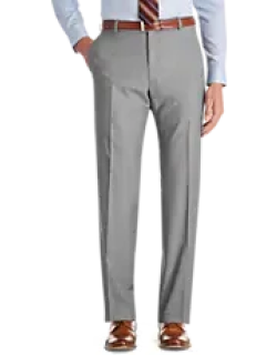 Traveler Collection Regal Fit Flat Front Sharkskin Men's Suit Separate Pants CLEARANCE by JoS. A. Bank
