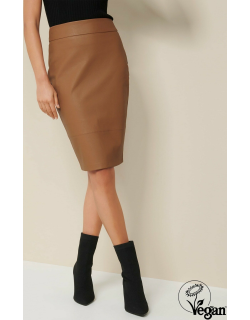 Forever New Women's Alex Faux Leather Pencil Skirt in Camel,