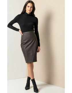 Forever New Women's Alex Faux Leather Pencil Skirt in Chocolate,