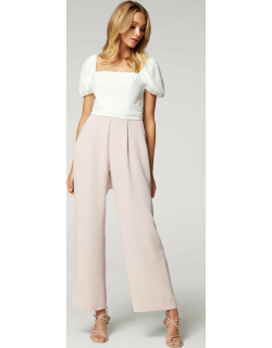 Forever New Women's Marg Square-Neck Jumpsuit in Ivory /Blush,