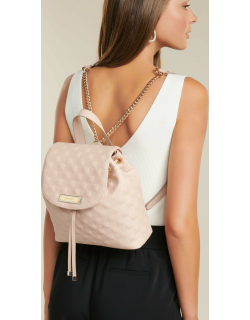 Forever New Women's Alice Quilted Mini Backpack in Blush Polyurethane/Polyester