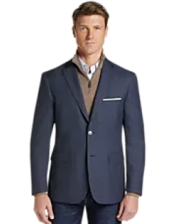 Traveler Collection Tailored Fit Check Sportcoat CLEARANCE, by JoS. A. Bank