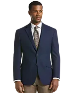 Travel Tech Collection Tailored Fit Check Sportcoat - Big & Tall CLEARANCE, by JoS. A. Bank