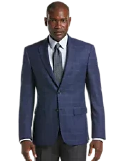 Traveler Collection Tailored Fit Windowpane Check Sportcoat - Big & Tall CLEARANCE, by JoS. A. Bank