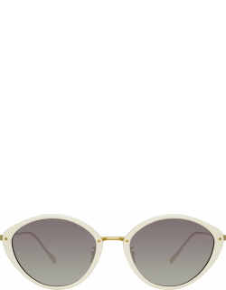 Lucy Cat Eye Sunglasses in White