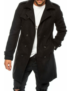 Seattle double breasted coat in black