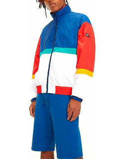 Tjm pieced jacket in limoges and multicolor