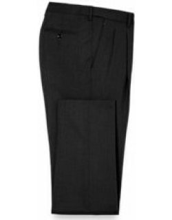 Classic Fit Essential Wool Pleated Suit Pants