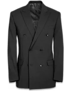 Tailored Fit Essential Wool Double Breasted Peak Lapel Suit Jacket