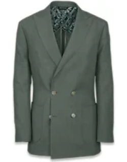 Linen Solid Double Breasted Suit Jacket