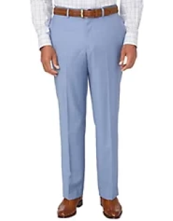 Tailored Fit Sharkskin Flat Front Suit Pant