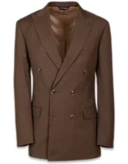Tailored Fit Double Breasted Peak Lapel Suit Jacket