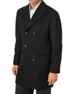 Wool Double Breasted Top Coat
