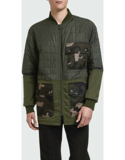 Men's Quilted Barn Coat w/ Camo Pockets