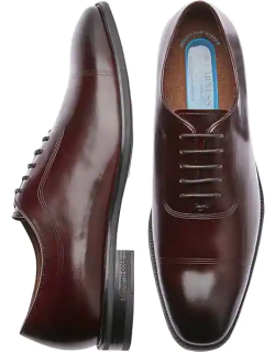 Awearness Kenneth Cole Men's AWEAR-TECH Tune Pod Cap Toe Lace Up Burgundy Red Oxfords