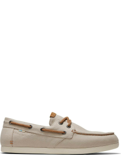 TOMS Oxford Tan Boat Claremont Oxford Tan Canvas Slip-Ons Shoes