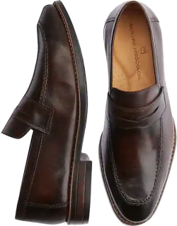 Sandro Moscoloni Men's Weston Brown Penny Loafers