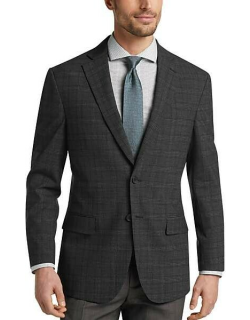 Awearness Kenneth Cole Men's Charcoal Plaid Slim Fit Sport Coat