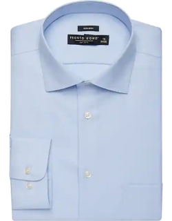 Pronto Uomo Men's Big and Tall Light Blue Queens Oxford Classic Fit Dress Shirt
