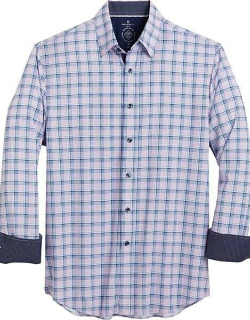 Con. Struct Men's Blue & Pink Check Four-Way Stretch Slim Fit Sport Shirt