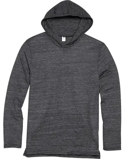 Alternative Apparel Men's Charcoal Eco Jersey Hoodie Pullover Charcoal