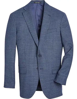 Awearness Kenneth Cole Men's Blue Check Slim Fit Sport Coat