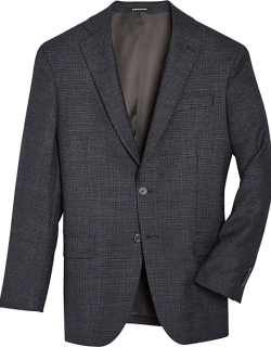 Awearness Kenneth Cole Men's Brown Check Slim Fit Sport Coat