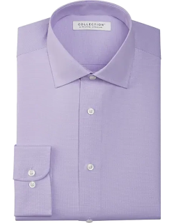 Collection by Michael Strahan Men's Active Wear Classic Fit Dress Shirt Purple Check