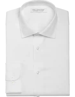 Collection by Michael Strahan Men's Active Wear Classic Fit Dress Shirt White