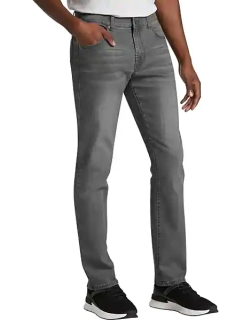 Collection by Michael Strahan Men's Straight-Leg Jeans Charcoal