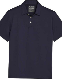 Traveler Men's Collection Modern Fit Short Sleeve Performance Polo Navy