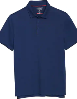 Awearness Kenneth Cole Men's AWEAR-TECH Short Sleeve Polo Admiral Blue