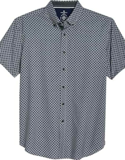Con. Struct Men's Slim Fit Short Sleeve Shirt Black & Taupe Check
