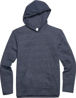 Alternative Apparel Men's Charcoal Eco Jersey Hoodie Pullover Navy