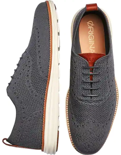 Cole Haan Men's Grand Stitchlite Wingtip Casual Oxfords Gray