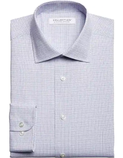 Collection by Michael Strahan Men's Classic Fit Dress Shirt Blue Grid