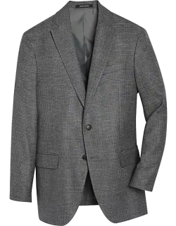 Awearness Kenneth Cole Men's Gray Houndstooth Slim Fit Sport Coat