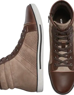 Awearness Kenneth Cole Men's Caden High Top Sneakers Brown
