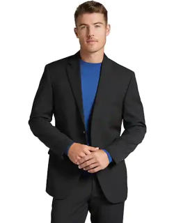 Pronto Uomo Men's Performance Modern Fit Suit Charcoal Gray