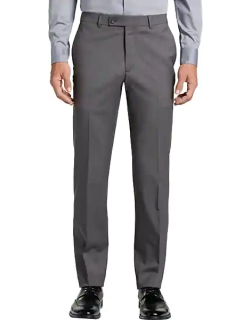 Awearness Kenneth Cole Men's AWEAR-TECH Slim Fit Suit Separates Pants Dove Gray